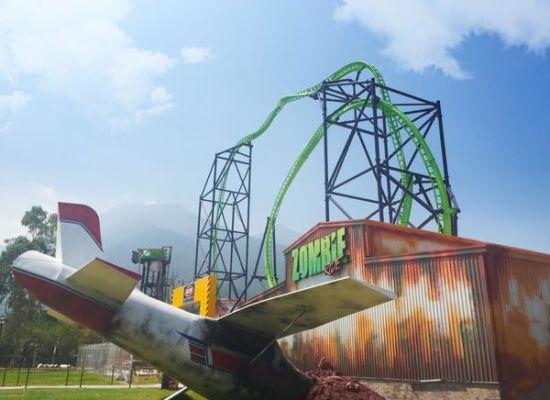Confira novas fotos e vídeos da Zombie Ride, nova montanha-russa do Bosque Mágico México