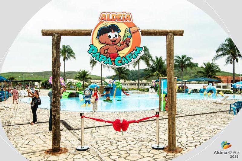 Aldeia das Águas inaugura espaço infantil com os personagens da Turma da Mônica.